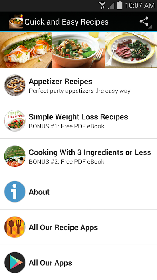 Quick and easy recipes android apps on google play quick and easy recipes screenshot forumfinder Images