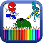 Heroes coloring pages for Kids Icon