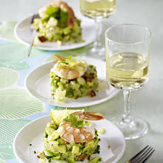 Prawns with Avocado Salad.