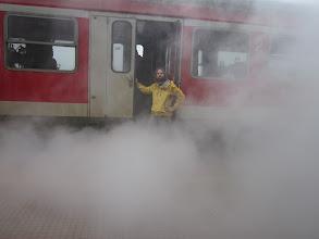 Photo: Et ce n'est pas un train a vapeur!
