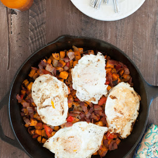 Sweet Potato Hash With Bacon and Eggs