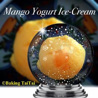 Healthy Mango Yogurt Ice-Cream.