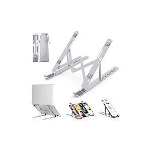 Stander multifunctional pentru laptop Silver Hold, aluminiu, Argintiu