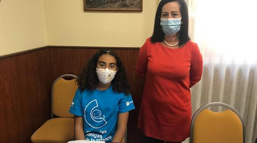 Una alumna cuevana lleva un mensaje ecologista al Parlamento de Andalucía