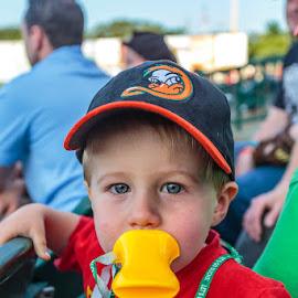 Quack! by Jeff McVoy - Babies & Children Children Candids ( long island, kid, bill, quack, baseball, hat, ducks, boy, child )