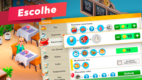 My Cafe Recipes & Stories Apk Mod Dinheiro Infinito 4