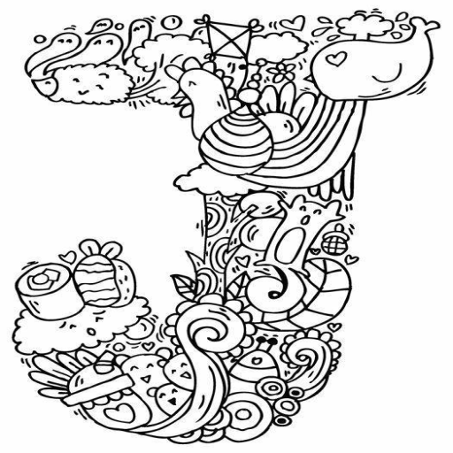 Doodle Inisial Nama Huruf