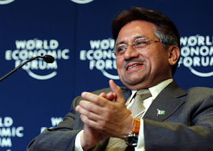 Photo: DAVOS/SWITZERLAND, 22JAN04 - Pervez Musharraf, President of Pakistan, applauds during the session 'Promoting Inter-Civilization Dialogue and Action' at the Annual Meeting 2004 of the World Economic Forum in Davos, Switzerland, January 22, 2004. 