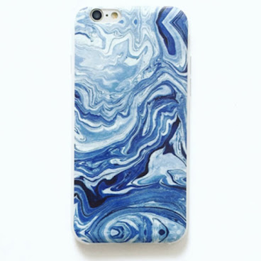 藍白 海浪 油畫 藝術手機殻 iPhone case 6/s/plus