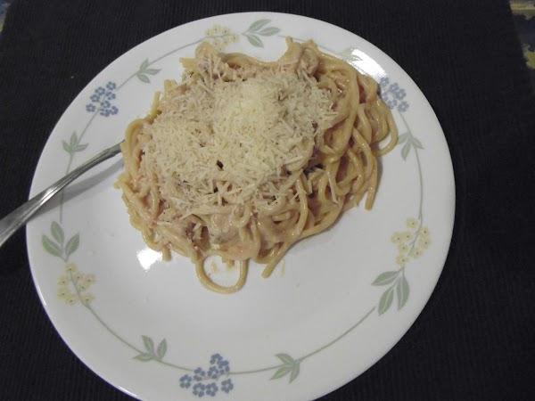 One-pot Spaghetti Chicken Alfredo Recipe
