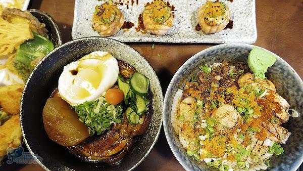 台中科博館平價丼飯壽司丸野鮨日式料理,份量大又好吃!!! 味噌湯、飲品、冰淇淋還能吃到飽,真是超佛心!!!