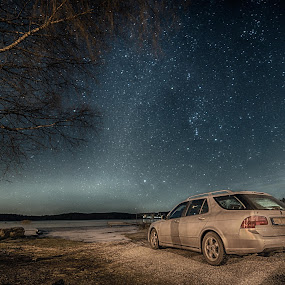 by Kjell Kasin - Uncategorized All Uncategorized ( samyang, stars, vehicle, saab, d610, night, nikon,  )