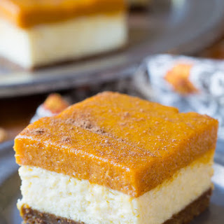 Layered Pumpkin Cheesecake Bars