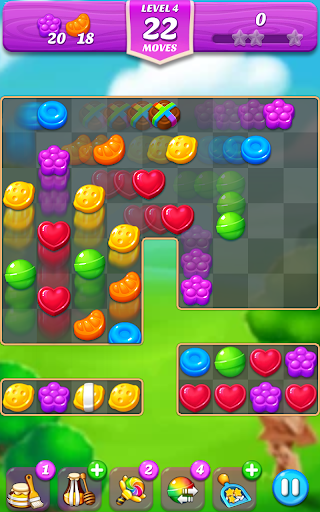 Lollipop & Marshmallow Match3  captures d'écran 2