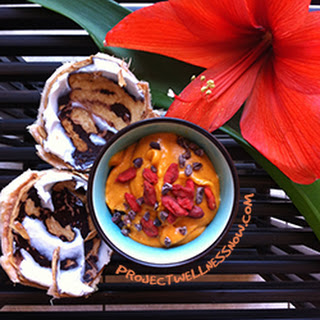 Raw Goji Berry Coconut Pudding.