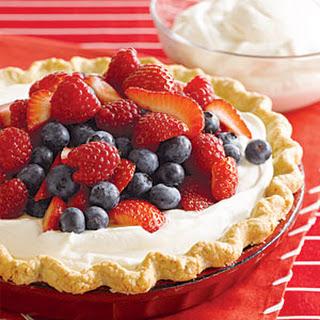 Triple Berry Cream Pie