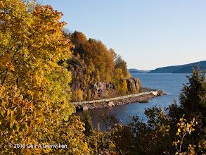 Photo: The road along Drammensfjorden towards Hurum, passing Hyggen