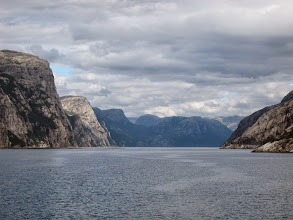 Photo: Into the Lysefjord
