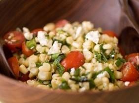 Corn, Tomato & Green Bean Salad With Basil Oil Recipe