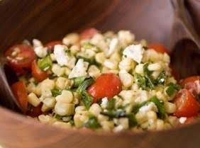Corn, Tomato & Green Bean Salad With Basil Oil Recipe