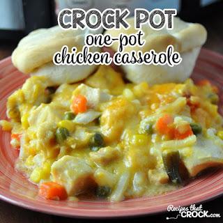 Crock Pot One-Pot Chicken Casserole.