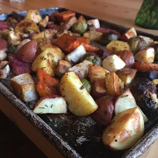 Paleo Roasted Root Vegetables.