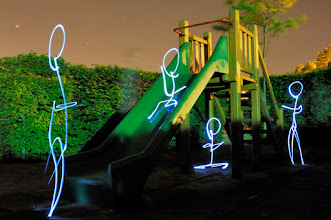 Photo: Playground III - Light painting by Christopher Hibbert, french photographer and light painter. Further information: http://www.christopher-hibbert.com