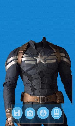 Superhero Face Photo Suit