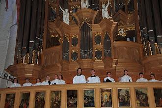 Photo: ...by the local Bach choir.