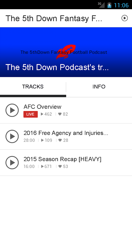 The 5th Down Fantasy Football- screenshot