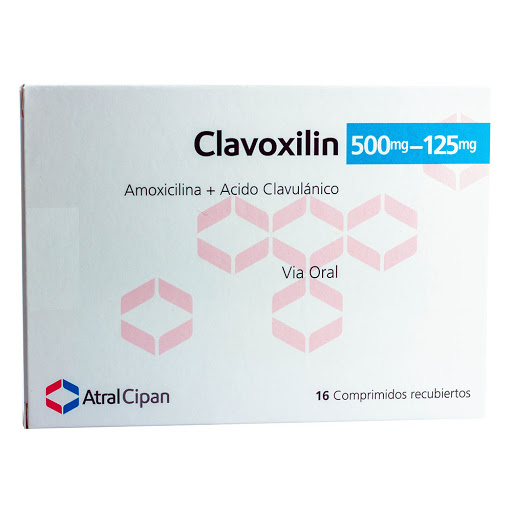 Amoxicilina + Acido Clavulanico Clavoxilin 500/125mg 16 Comprimidos