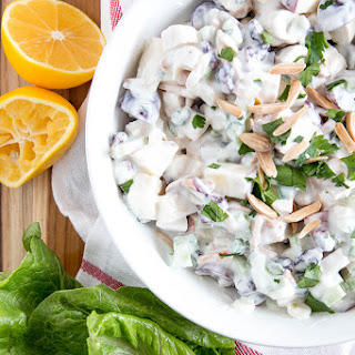Chicken, Apple & Grape Salad with Creamy Dressing.