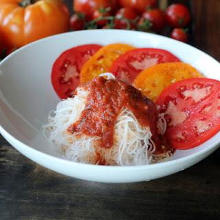 Daikon Pasta and Kimchi.