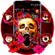Red Roses Floral Skull Theme Android apk