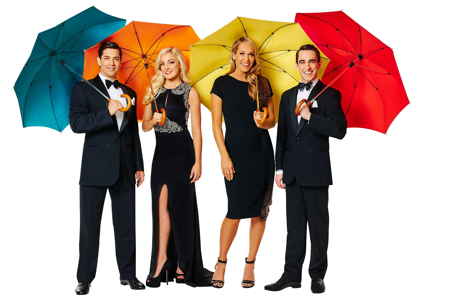 Singin In The Rain Cast: Adam Garcia, Gretel Scarlett, Erika Heynatz and Jack Chambers; Photo Credits: Singin In The Rain Media