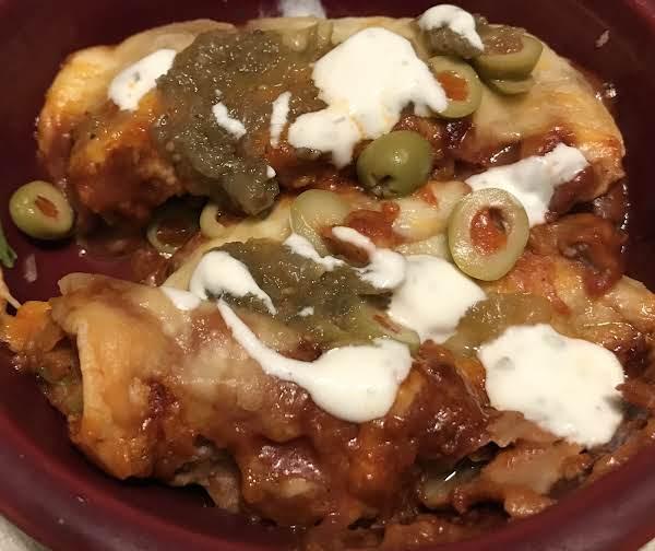 Beef-bean Enchiladas