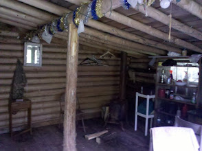 Photo: Inside the DNR Cabin (Photo by Hahnfeld)