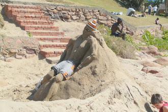 Photo: Sonbrand pla hom nie, maar as hy uitdroog gaan hy van sand tot sand - Scottburgh hoofstrand