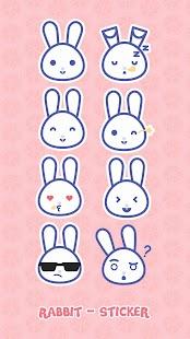 Rabbit Keyboard Sticker - náhled