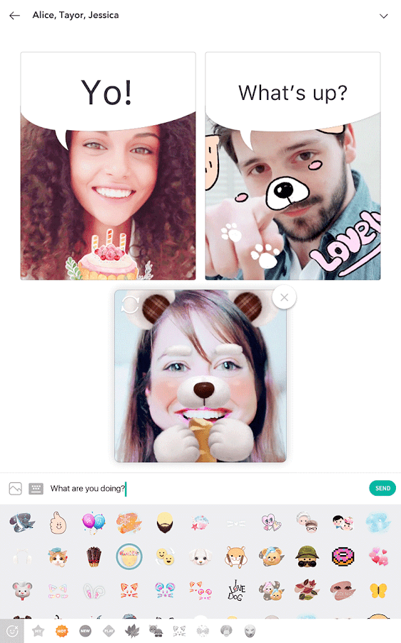 B612 - Take, Play, Share: captura de pantalla