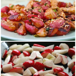 Roasted Radishes with Soy Sauce and Toasted Sesame Seed