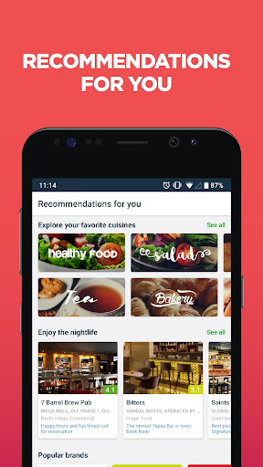 Zomato - Restaurant Finder and Food Delivery App 12.4.0 screenshots 2