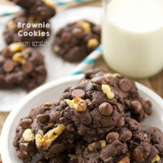 Brownie Cookies from scratch.
