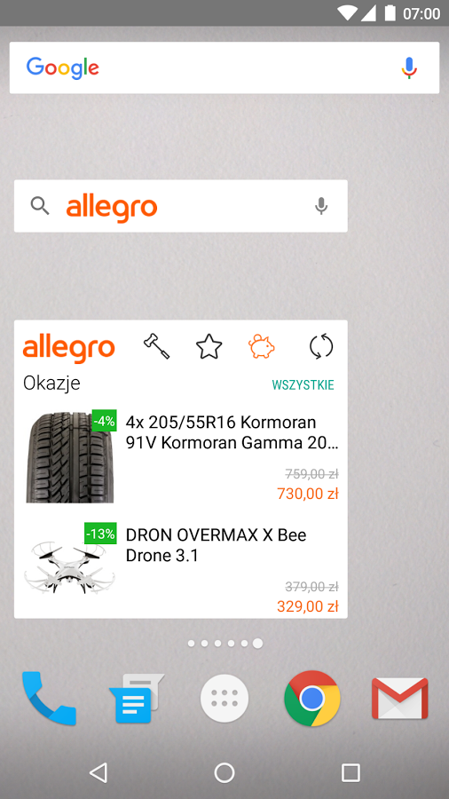 Allegro- screenshot