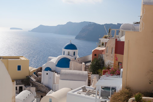 Oia-rooftops.jpg - Rooftops and iconic Cycladic architecture in Oia on the Greek island of Santorini.