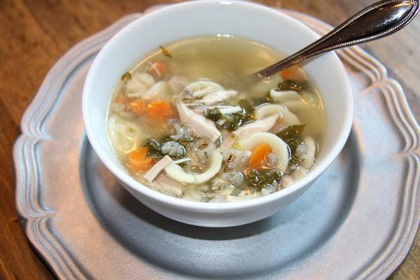 Miss Lauren's Chicken Wild Rice Orecchiette Soup Recipe