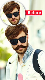 Man Hair Mustachi Style - náhled