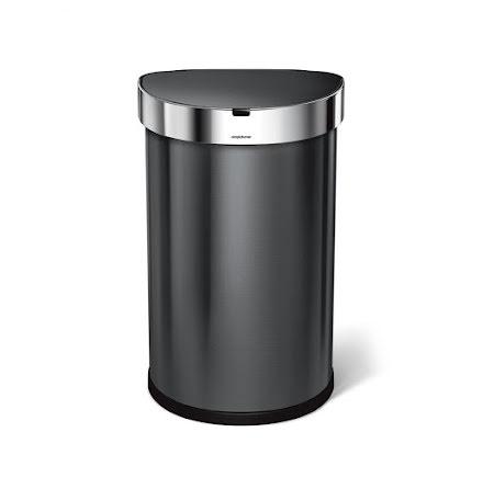 Sensorstyrd Soptunna Simplehuman  45 liter  Svart, stål