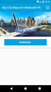download map minecraft pe big city