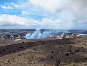Photo: The steaming, active crater ofKīlauea.